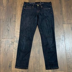 J Crew Toothpick ankle dark denim jeans